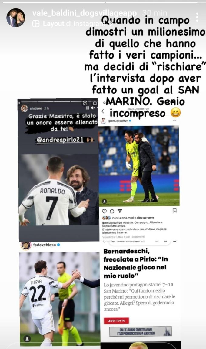 story compagna pirlo